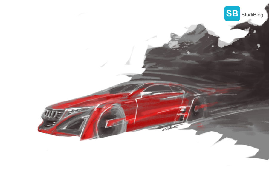Audi ILlustration von eller-design Werbeagentur