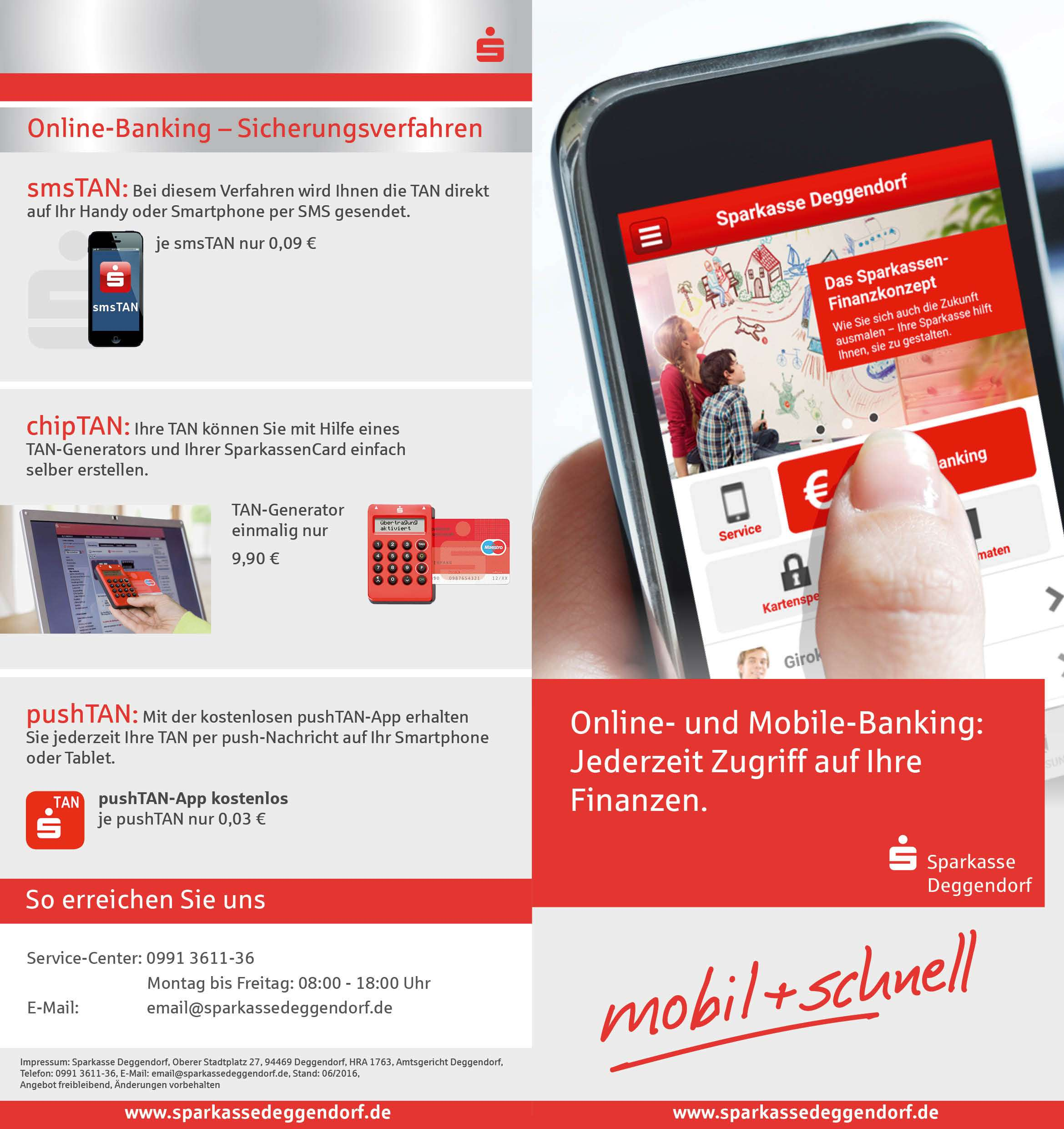 onlinebanking sparkasse deggendorf flyer eller design. Black Bedroom Furniture Sets. Home Design Ideas