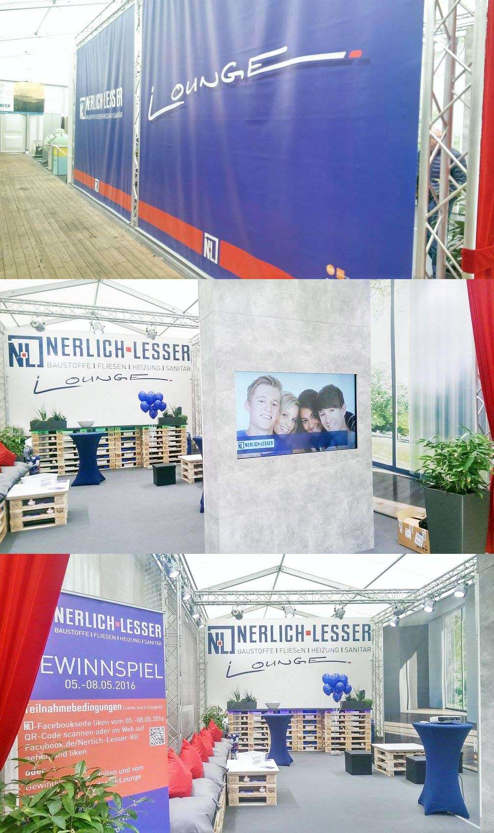 Nerlich & Lesser Messestand/Lounge DIWA-Messe