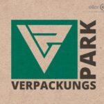 Verpackungspark Logo auf Kartonhintergrund